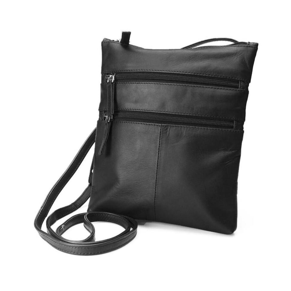 Malá kožená kabelka cez plece  e218a5958a3