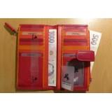 Visconti RAINBOW RB100 BERMUDA dámská kožená peněženka červená
