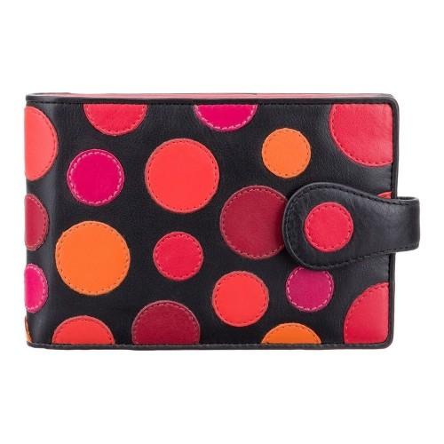 Visconti POLKA P5 RFID peněženka dámská cestovní borůvkové puntíky