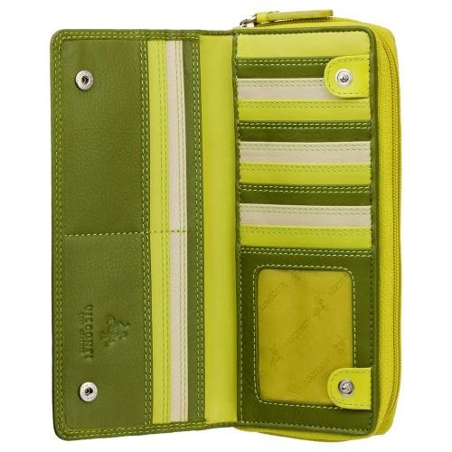 Visconti velká zelená kožená peněženka s RFID