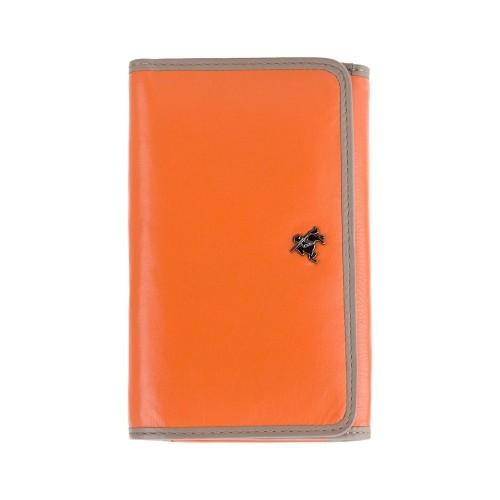 Visconti Rhodes RD91 Parrot dámska kožená peňaženka oranžová / taupe