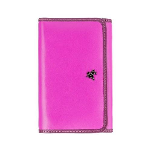 Visconti rozkládací růžová kožená peněženka