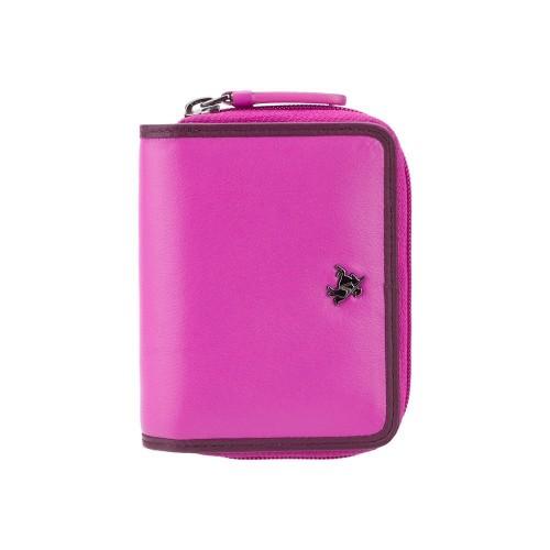 Visconti Rhodes RD90 růžová dámská kožená peněženka
