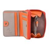 Visconti Rhodes RD90 Sparrow dámská kožená peněženka oranžová / taupe