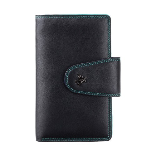Visconti černá peněženka s barevným vnitřkem a RFID