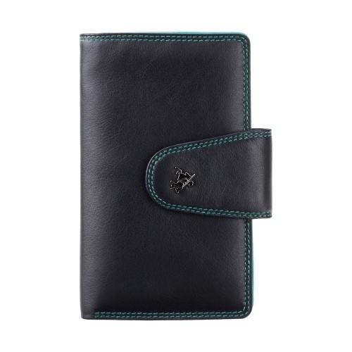 Visconti čierna peňaženka s farebným vnútrom a RFID