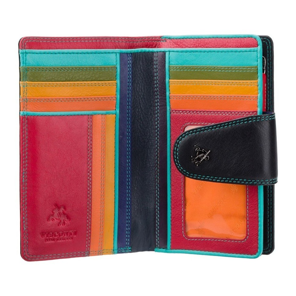 Visconti SPECTRUM SP30 YLANG dámská kožená peněženka černá