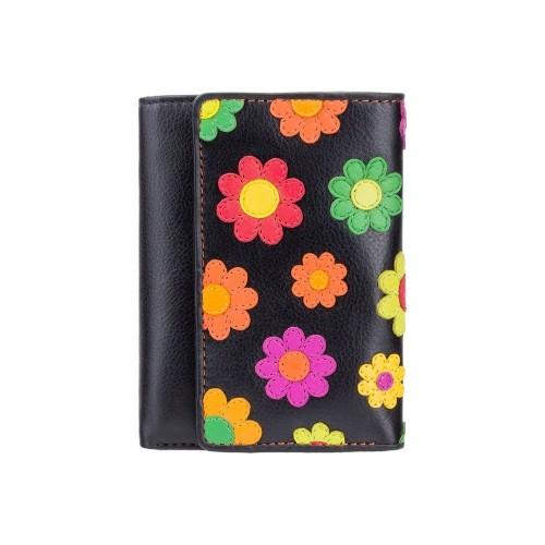 Visconti menší rozkládací dámská peněženka s kytičkami