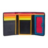 Visconti Santorini STR3 Chalki malá dámská kožená peněženka s proužky a RFID