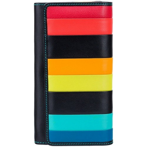 Visconti velká dámská kožená peněženka s proužky a RFID