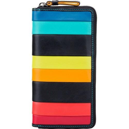 Visconti velká kožená peněženka s proužky na zip