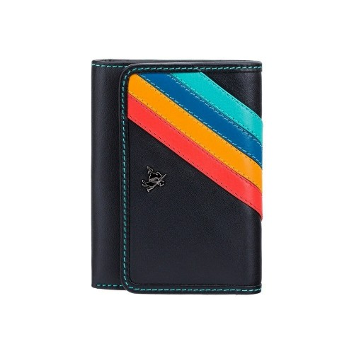 Visconti Chloe CHL70 Vera menší dámská kožená peněženka s proužky a RFID