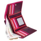 Visconti švestková rozkládací kožená peněženka