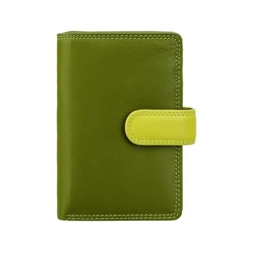 Visconti stredná dámska kožená peňaženka s RFID zelená