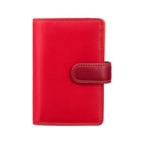 Visconti strednej dámska kožená peňaženka s RFID červená