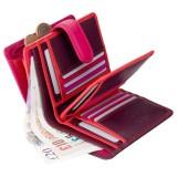 Visconti dámská kožená peněženka RAINBOW RB51 švestková