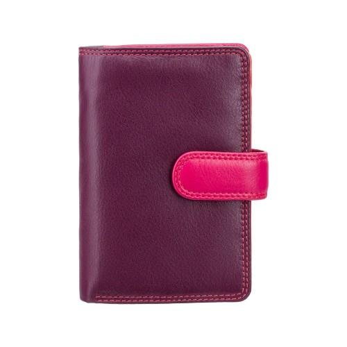 Visconti strednej dámska kožená peňaženka s RFID slivková