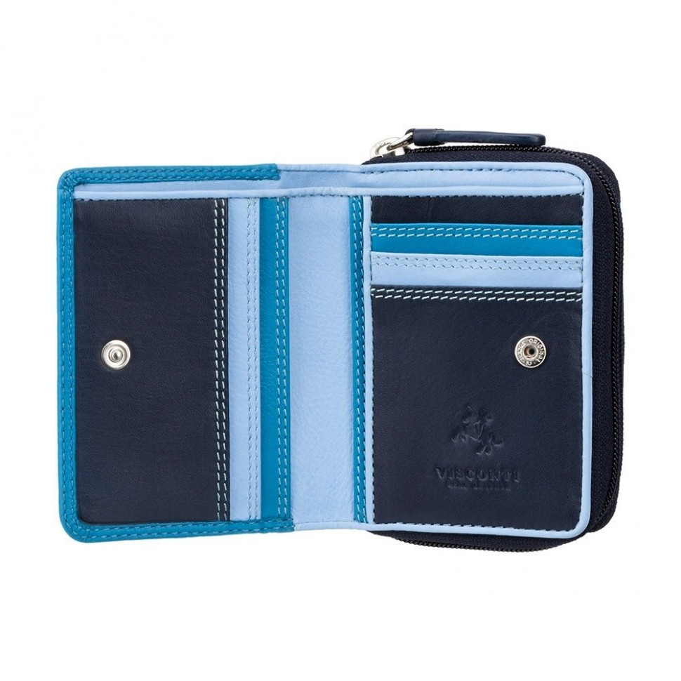 Visconti RAINBOW RB53 HAWAII dámská kožená peněženka modrá