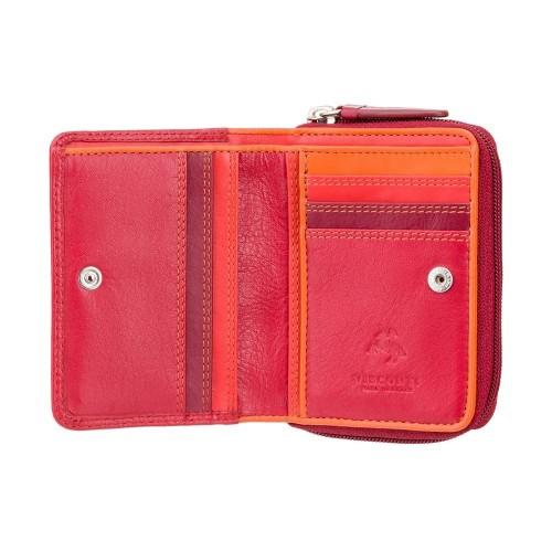 Visconti malá červená dievčenské peňaženka ochrana RFID