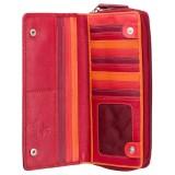 Visconti velká červená kožená peněženka s RFID