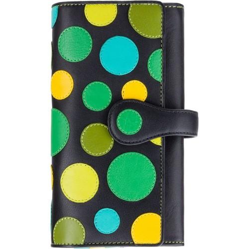 Visconti POLKA P2 NEPTUN peněženka dámská velká puntíky modrožluté