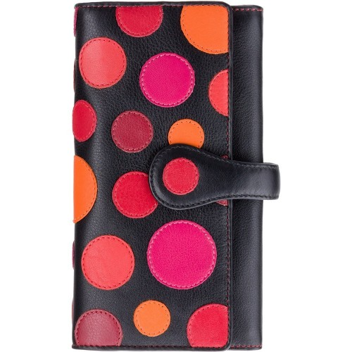 Visconti veľká kožená peňaženka s bodkami a RFID