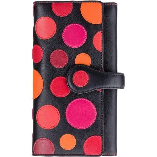 Visconti velká kožená peněženka puntíky a RFID