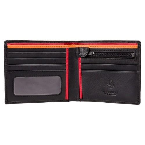 Visconti pánska plochá kožená peňaženka s RFID