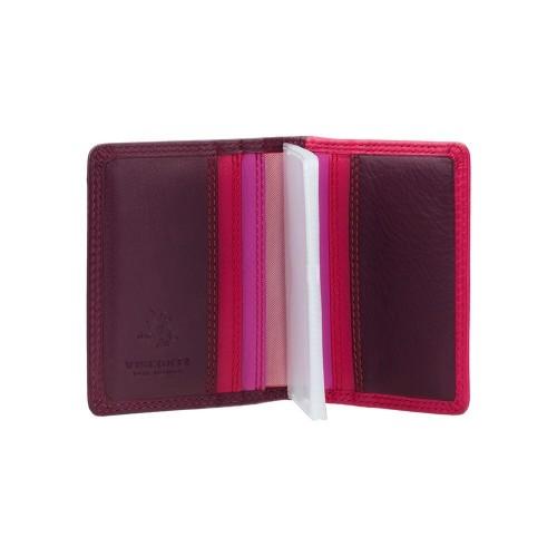 Visconti púzdro na karty s RFID odtiene odtiene slivkovej