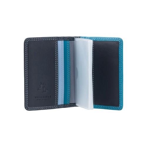 Visconti púzdro na karty s RFID odtiene modrej