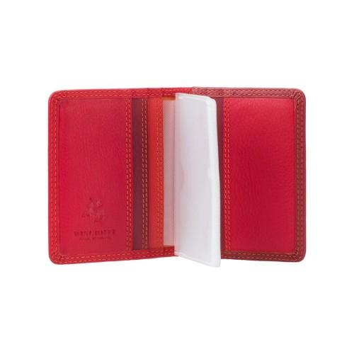 Visconti púzdro na karty s RFID odtiene červenej