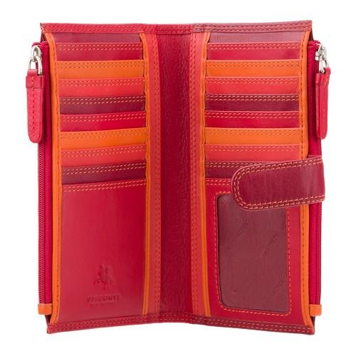 Visconti RAINBOW RB100 BERMUDA dámská kožená peněženka s RFID červená