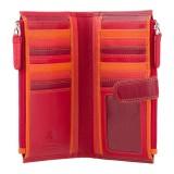 Visconti červená dámska kožená peňaženka s dvoma vreckami a RFID