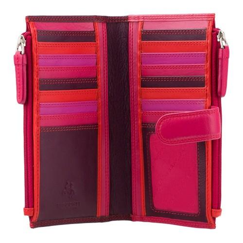 Visconti slivková dámska kožená peňaženka s dvoma vreckami a RFID