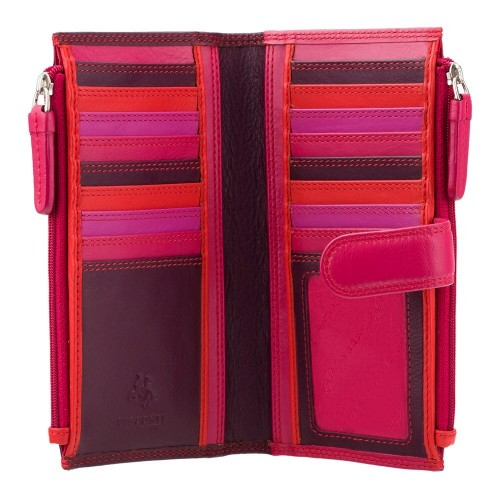 Visconti švestková dámská kožená peněženka s dvěma kapsami a RFID