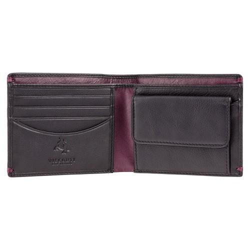 Visconti čierna pánska kožená peňaženka s RFID