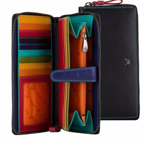 Visconti SPECTRUM veľká dámska kožená peňaženka / lístoček s RFID