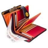 Visconti peněženka dámská střední s kytičkami DS82