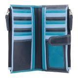 Visconti modrá dámska kožená peňaženka s dvoma vreckami a RFID
