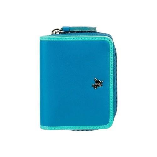 Visconti Rhodes RD90 Sparrow dámska kožená peňaženka modrá / tyrkysová