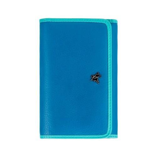 Visconti Rhodes RD91 Parrot dámska kožená peňaženka modrá / tyrkysová