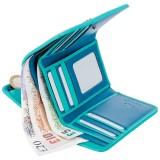 Visconti Rhodes RD91 Parrot dámská kožená peněženka modrá/tyrkysová