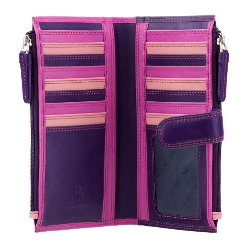Visconti fialová dámská kožená peněženka s RFID