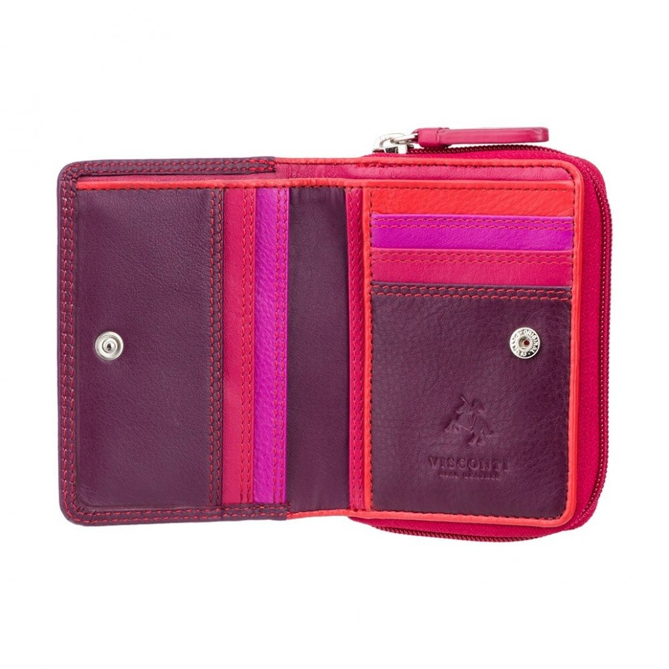 Visconti dámská kožená peněženka RAINBOW RB53 švestková