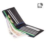 Visconti BOND BD707 pánská kožená peněženka střední černá / červená RFID