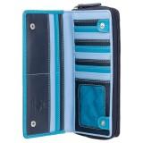 Visconti velká modrá kožená peněženka s RFID