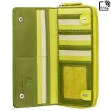 Visconti RAINBOW RB55 HONOLULU dámská kožená peněženka zelená
