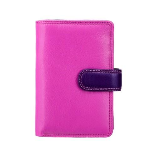 Visconti stredná dámska kožená peňaženka s RFID ružová