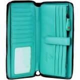 Visconti kožená peněženka / psaníčko s RFID a puntíky