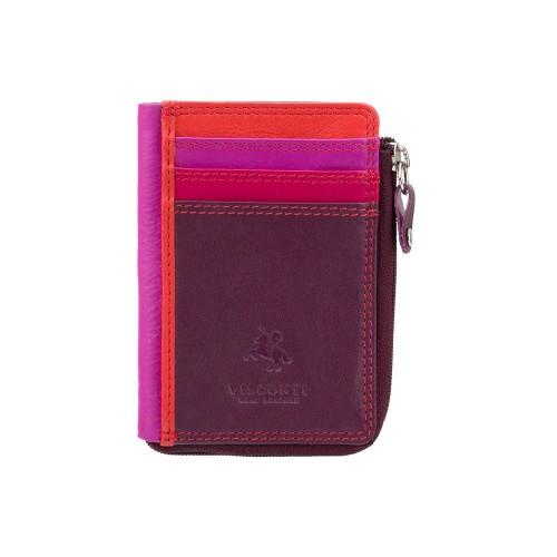 Visconti puzdro na karty a drobné tmavo fialové